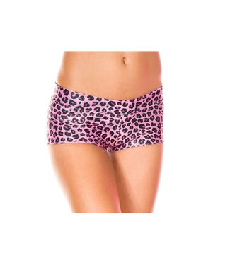 Music Legs Glitter Broekje met Luipaardprint - Roze