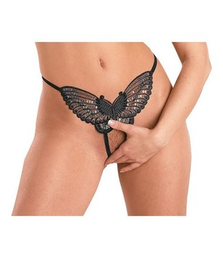 Mandy mystery Line Butterfly String Zwart S-L
