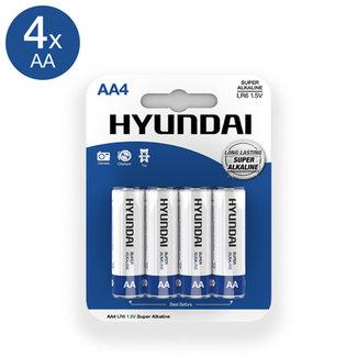 Hyundai Super Alkaline AA-Batterijen - 4 Stuks