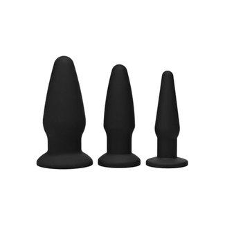 Trinity Vibes Trinity Buttplug Set - Zwart