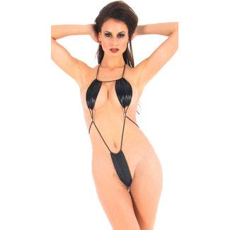 Vixson Vixson Wetlook Minimalistische Body - Zwart