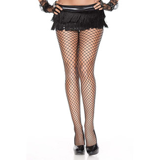 Music Legs Plus Size Visnetpanty - Zwart
