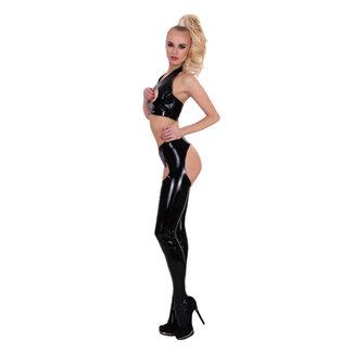 Guilty Pleasure GP Datex Panty Met Open Kruis - Zwart