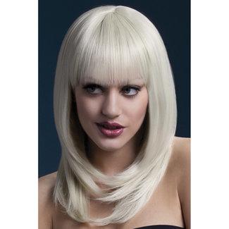 Fever Lange Pruik Met Pony - Blond
