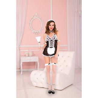 Music Legs 4-Delig Sexy Dienstmeisje Kostuum