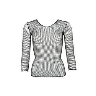 Mandy mystery Line Visnet Shirt - Zwart