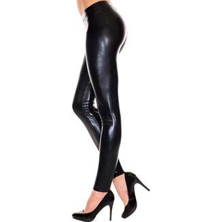 Music Legs Wetlook Legging - Zwart