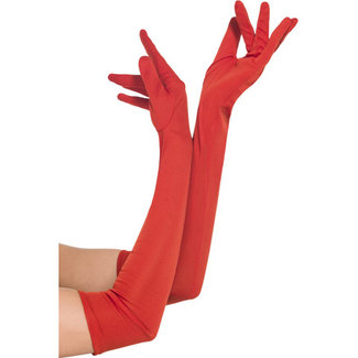 Fever Lange Handschoenen - Rood