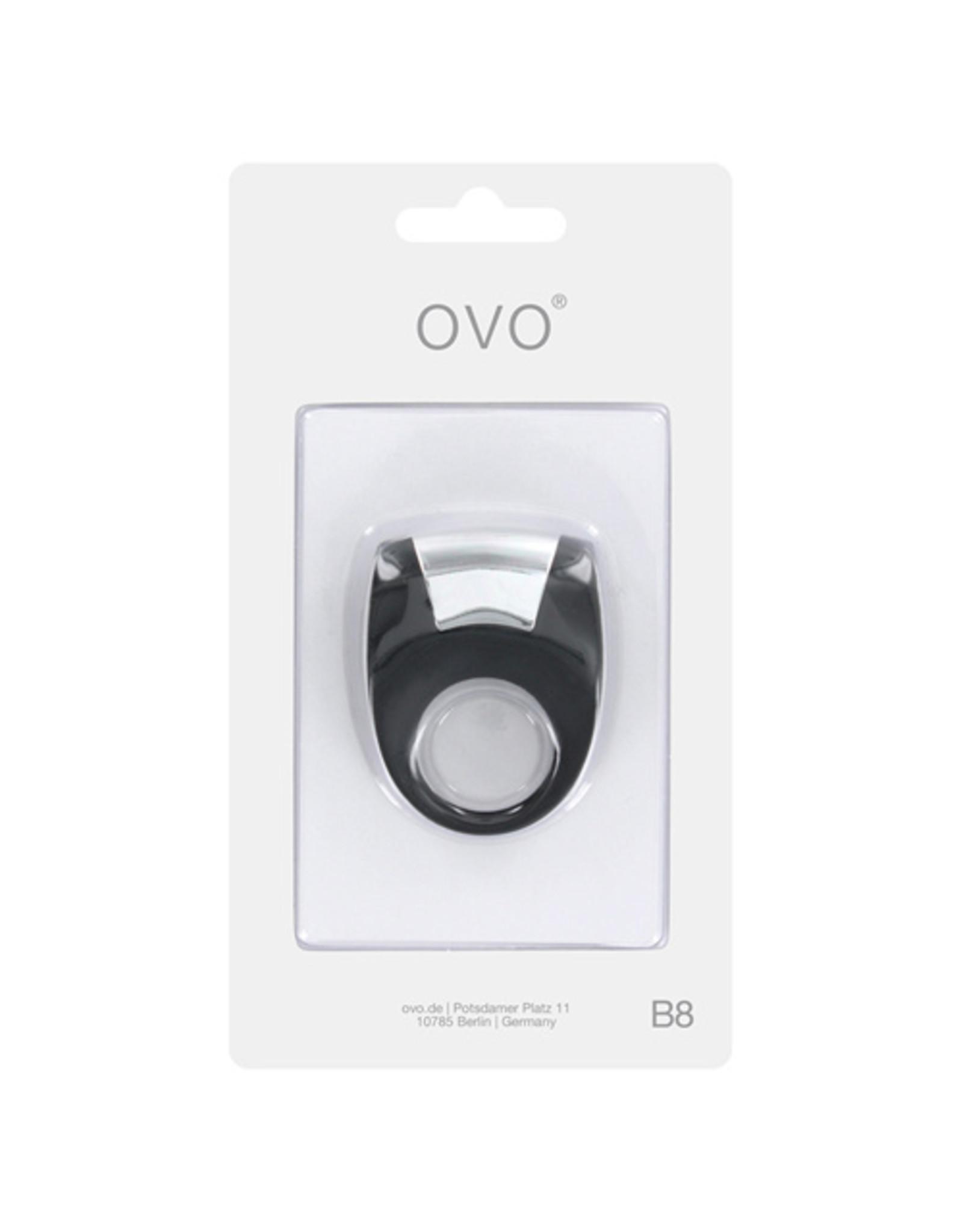 Ovo Ovo B8 Vibrerende penis ring - Zwart