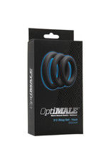 OptiMALE Driedelige grijze Cockring Set