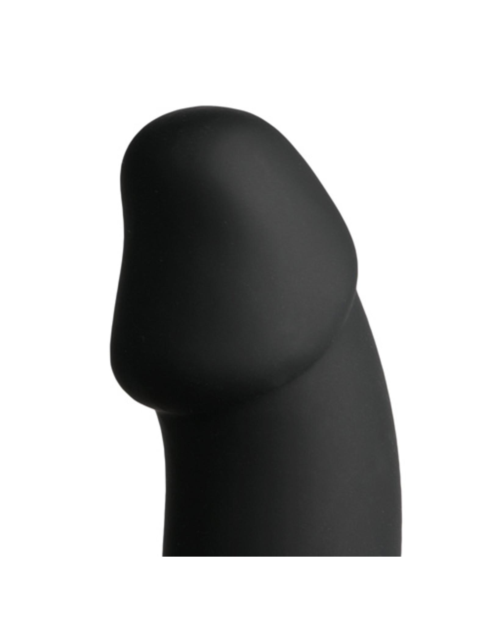 Black Velvets Cockring Met Anaal Dildo - Zwart