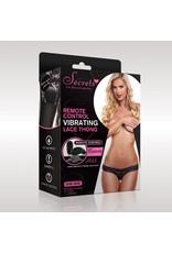 Secrets Vibrating Panties Kanten string met bullet vibrator - Zwart