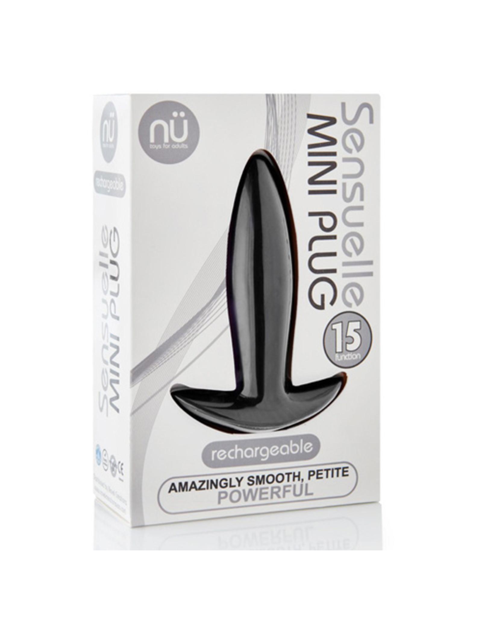 Nu Sensuelle Mini Plug Vibrerende Buttplug - Zwart
