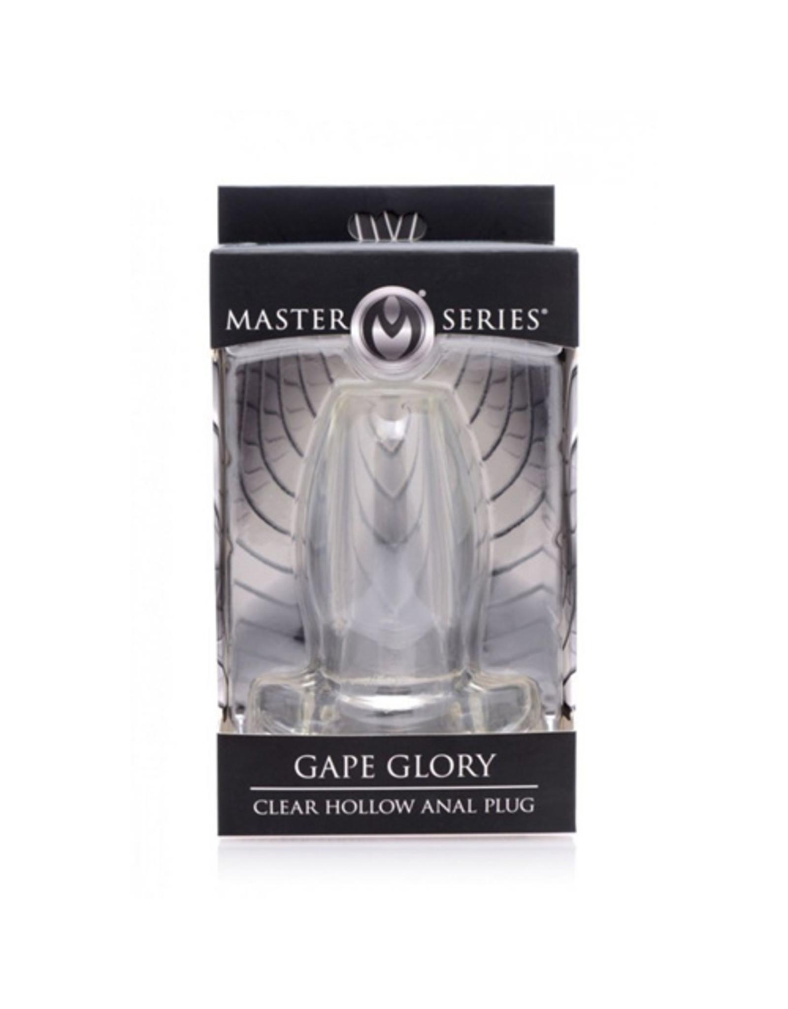 Master Series Gape Glory - Transparante Buttplug