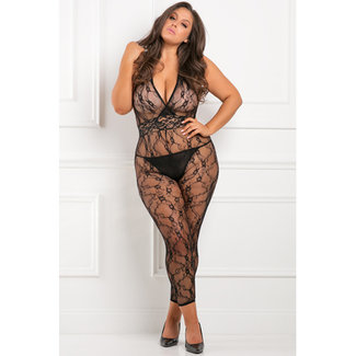 Rene Rofe Lacy Movie Catsuit Plus Size
