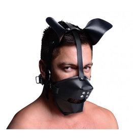 Master Series Puppy Play Masker Met Ballgag - Zwart