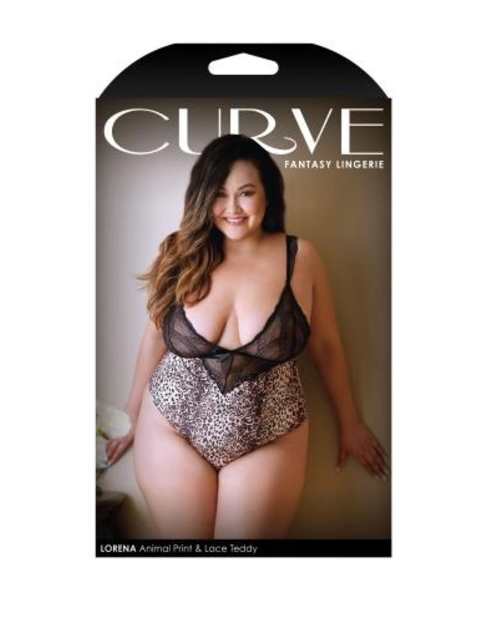 Curve Lorena Animal Print Body - Leopard