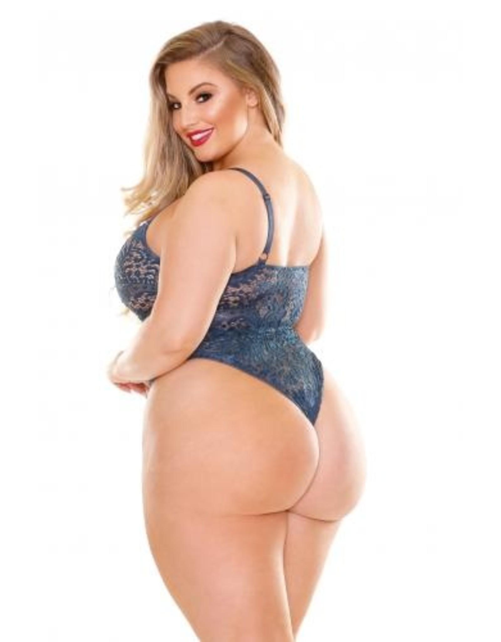 Curve Adriana Kanten Stringbody - Blauw