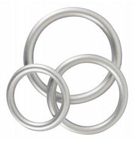 You2Toys Siliconen Cock Ring Set - Metallic