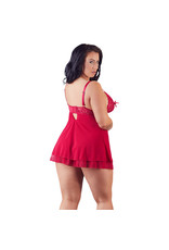 Cottelli Collection Babydoll Met Half Open Cups