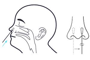 hoe diep het wattenstaafje bij de corona zelftest in de neus moet