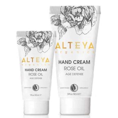 Alteya Organics Organic Hand Cream Rose Oil 30ml of 90ml