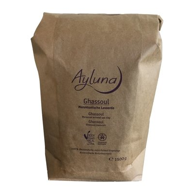 Ayluna Ghassoul - Moroccan Mineral Spa Clay 400g of 1500g