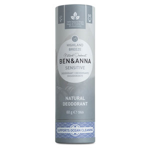 BEN&ANNA Sensitive Deodorant Papertube Highland Breeze 60g