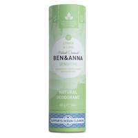 BEN&ANNA Sensitive Deodorant Papertube Lemon & Lime 60g