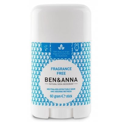 BEN&ANNA Natural Soda Deodorant Stick Pure 60g