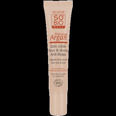 SO'BiO étic Précieux Argan Anti-Wrinkle Eye & Lip Targeted Care  15ml