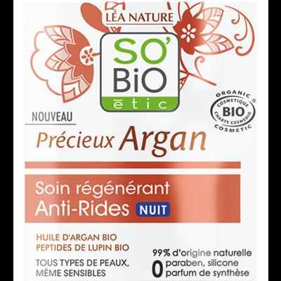 SO'BiO étic Précieux Argan Anti-Wrinkle Regenerative Night Care 50ml