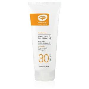 Green People Scent-Free Sun Cream SPF30 100ml of 200ml