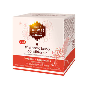 De Traay Bee Honest Shampoo Bar & Conditioner Bergamot & Bijenwas 80g