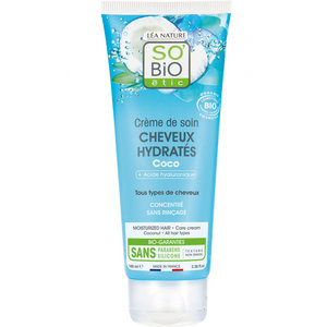 SO'BiO étic Hydrated Hair Coco Conditioning Cream 100ml