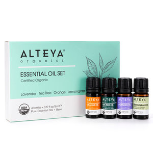 Alteya Organics Essential Oil Set Pure Gratitude 4x5ml