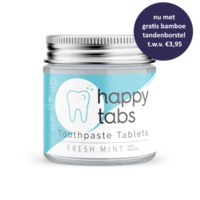 Happy Tabs Toothepaste Tablets Fresh Mint with Fluoride ca. 80st.