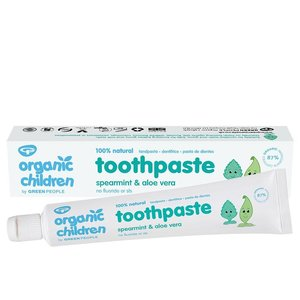 Green People Organic Children Spearmint & Aloe Vera Toothpaste 50ml