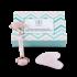 LimberLux Rose Quartz Roller en Gua Sha Massage Set
