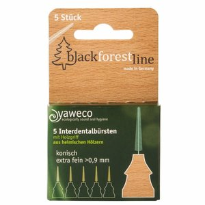 Yaweco Black Forest Line Interdentale Borstels 5st.