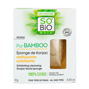 SO'BiO étic Exfoliating Cleansing Konjac Facial Sponge