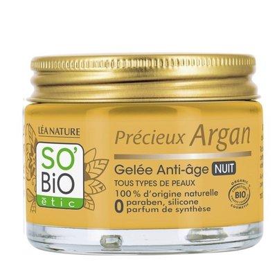 SO'BiO étic Précieux Argan Anti-Aging Firming Night Gel 40ml