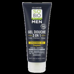 SO'BiO étic MEN Shower Gel 3in1 Ginger 200ml