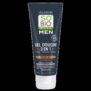 SO'BiO étic MEN Shower Gel 3in1 Cedar 200ml