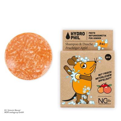 Hydrophil Vaste 2in1 Shampoo & Douchegel voor Kinderen Fruitige Appel 60g