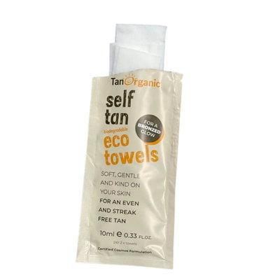 TanOrganic Self Tan Eco Towels 2x10ml