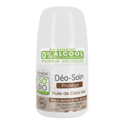 SO'BiO étic 24h Deo Roll-On Coconut Dry & Sensitive Skin 50ml