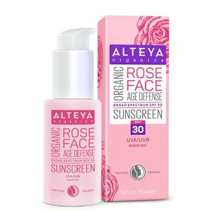 Alteya Organics Organic Rose Face Sunscreen SPF30 50ml