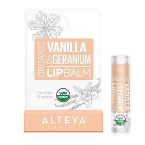 Alteya Organics Organic Vanilla & Geranium Lip Balm 4.5g