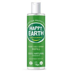 Happy Earth Pure Deo Spray Refill Cucumber Matcha 300ml